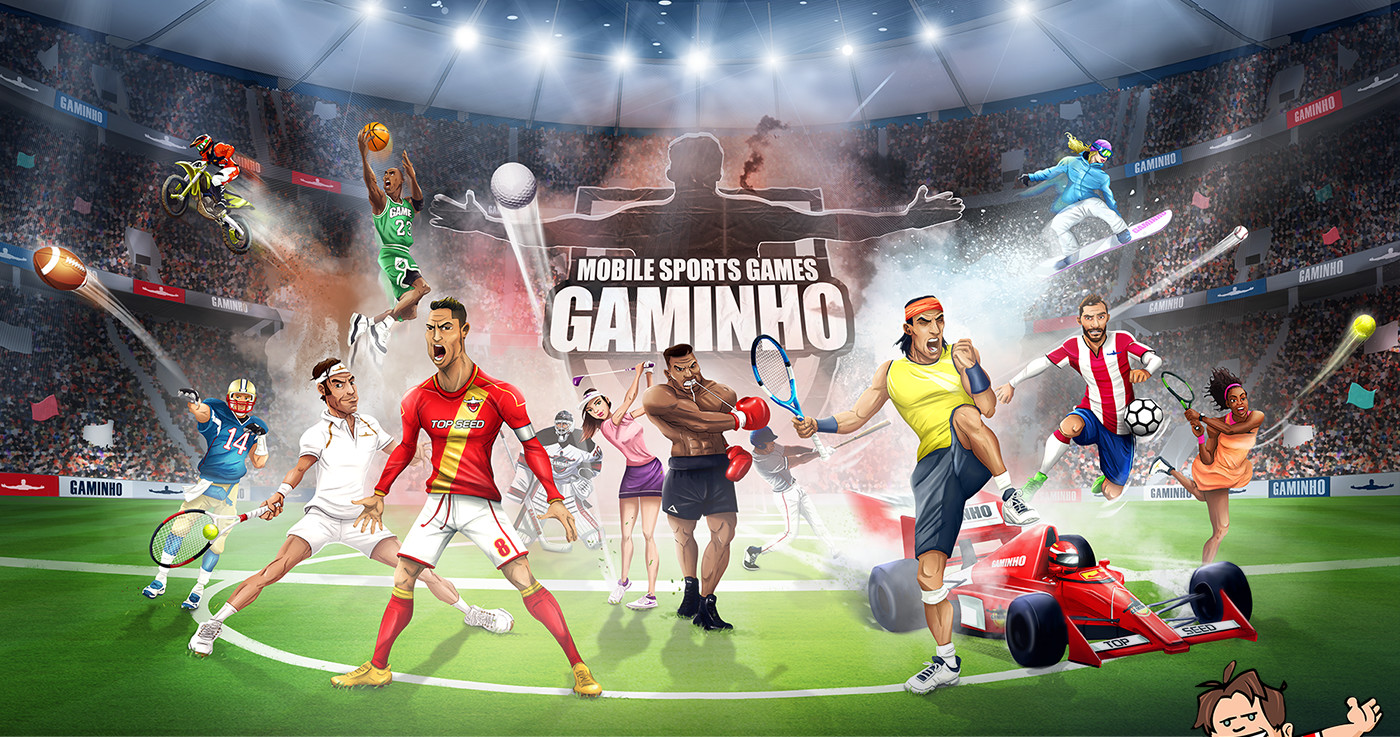 Ga-mi-nho! We love sport, we love games. We make sports games!